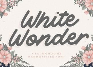 White Wonder Monoline Handwritten Font