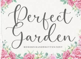 Perfect Garden Modern Handwritten Font