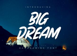 Big Dream Brush Font + Extra Bonus
