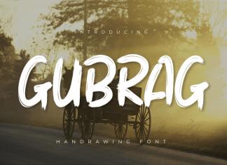 Gubrag Brush Font