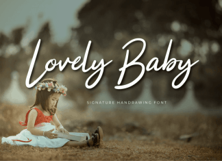 Lovely Baby Calligraphy Font