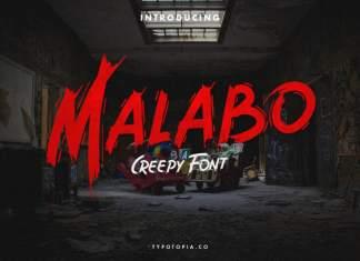 Malabo Brush Font