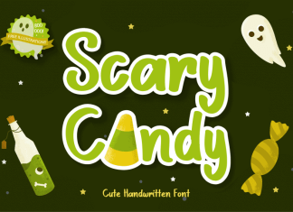 Scary Candy Script Font