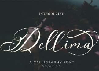 Dellima Calligraphy Font
