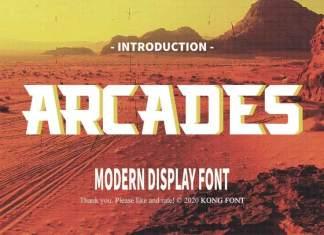 Arcades Display Font