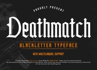 Deathmatch Display Font