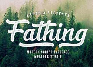 Fathing Calligraphy Font