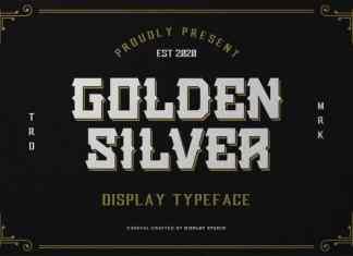 Golden Silver Display Font