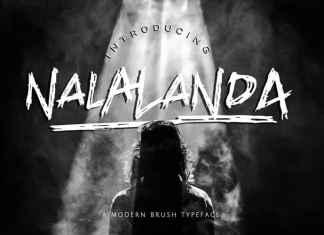 Nalalanda Brush Font