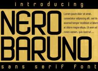Nero Baruno Display Font