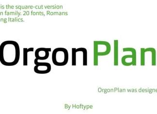 Orgon Plan Sans Serif Font