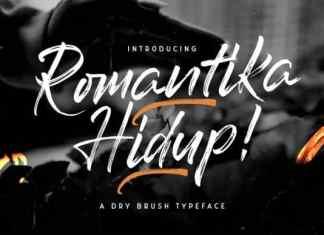 Romantika Hidup Brush Font