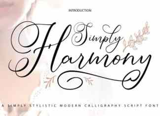Simply Harmony Calligraphy Font