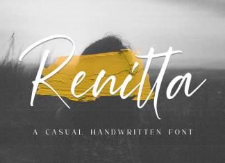 Renitta Handwritten Font