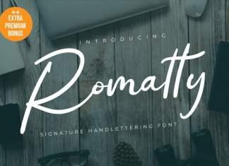 Romatty Script Font