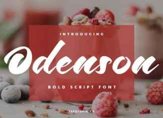 Odenson Script Font