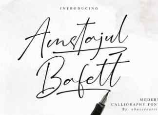Amstajul Bufett Handwritten Font