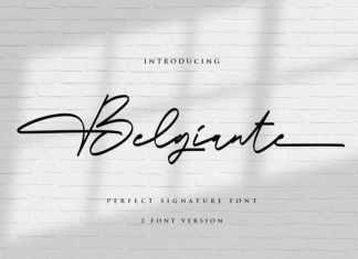 Belgiante Handwritten Font