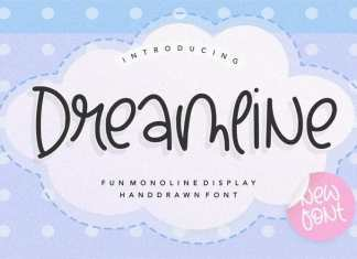 Dreamline Fun Monoline Handdrawn Font