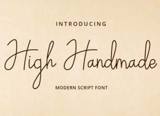 High Handmade Handwritten Font