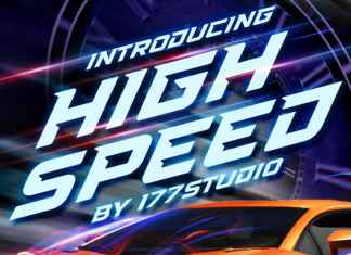High Speed - Sports Display Font