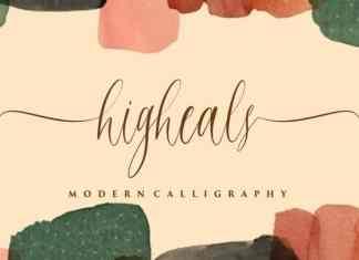 Higheals Calligraphy Font