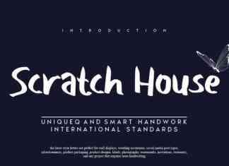 Scratch House Brush Font