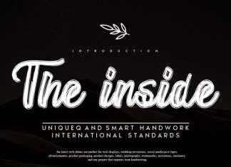 The inside Script Font