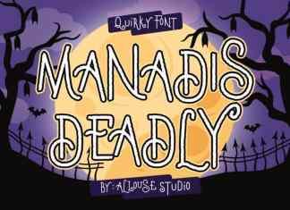Manadis Deadly Display Font