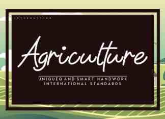 Agriculture Handwritten Font