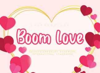Boom love Display Font