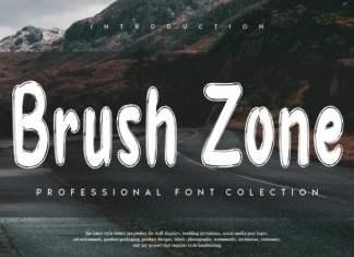 Brush Zone Brush Font