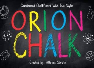 Orion Chalk Display Font
