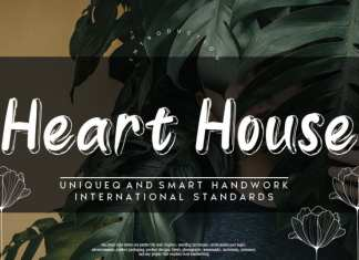 Heart House Display Font