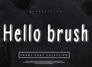 Hello brush Font