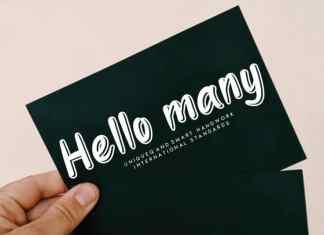 Hello many Display Font