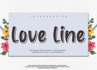 love line Display Font