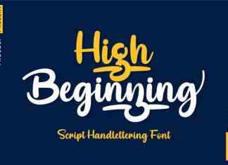 High Beginning Script Font