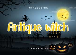 Antique witch Display Font