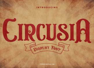 Circusia Vintage Display Font