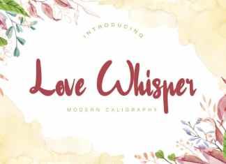 Love Whisper Script Font