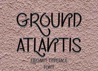 Ground Atlantis Display Font