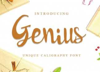 Genius Script Font