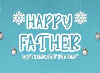 Happy Father Display Font