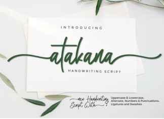 Atakana Script Font