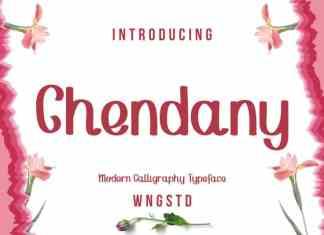 Chendany Script typeface
