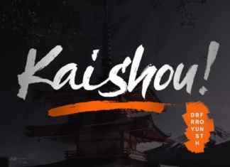 Kaishou Brush Font
