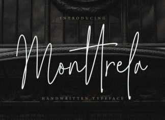 Monttrela Signature Font