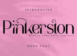 Pinkerston Sans Serif Font