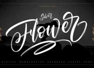 Silver Flower Brush Font